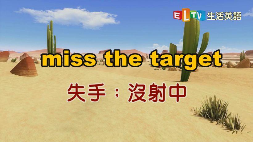 【miss the target 失手;沒射中】