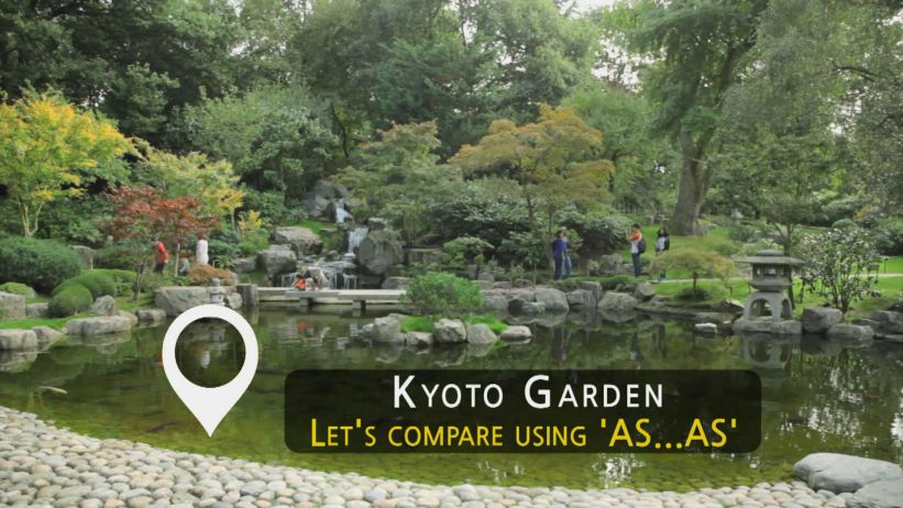 """<span class='sharedVideoEp'>042</span> 京都庭園 -  用『as… as』來做比較 「Kyoto Garden - Let's Compare Using """"as… as""""」"""